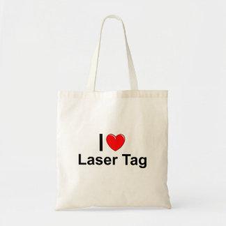I Love Heart Laser Tag Tote Bag