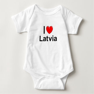 I Love Heart Latvia Baby Bodysuit