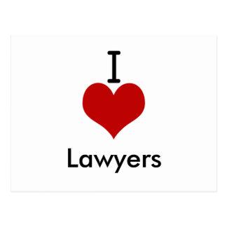 I Love (heart) Lawyers Postcard