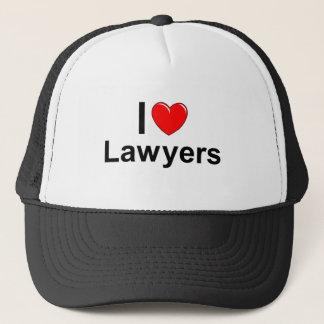 I Love Heart Lawyers Trucker Hat