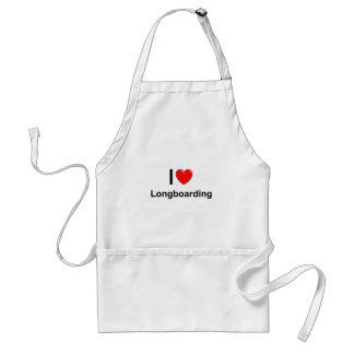 I Love Heart Longboarding Standard Apron