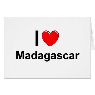 I Love Heart Madagascar Card