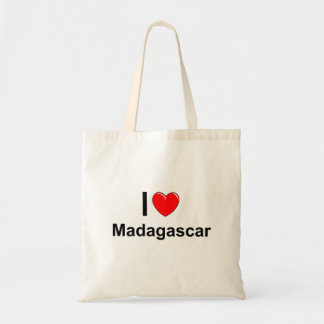 I Love Heart Madagascar Tote Bag