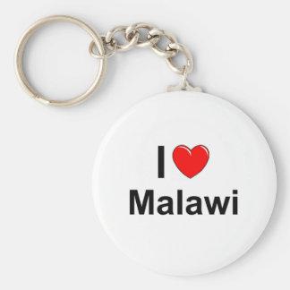 I Love Heart Malawi Key Ring