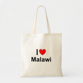 I Love Heart Malawi Tote Bag