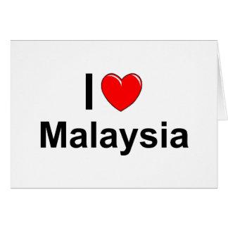 I Love Heart Malaysia Card