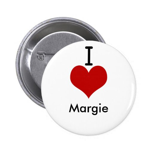I Love (heart) Margie Pinback Button