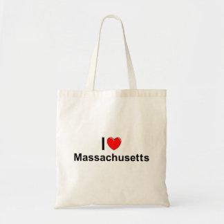 I Love (Heart) Massachusetts Tote Bag