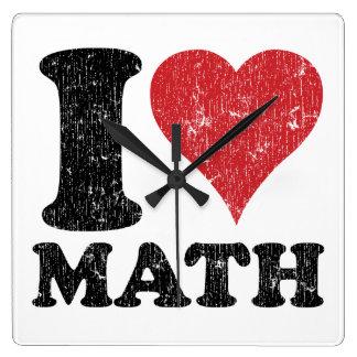 I Love (Heart) Math Clock