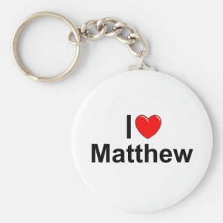 I Love (Heart) Matthew Key Ring