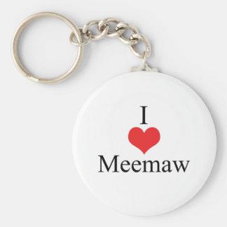 I Love (Heart) Meemaw Key Ring