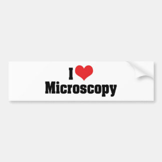 I Love Heart Microscopy Bumper Sticker