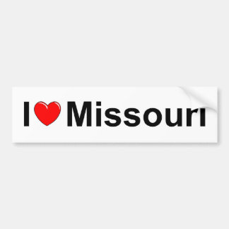 I Love (Heart) Missouri Bumper Sticker