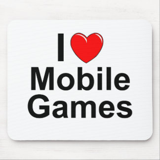 I Love Heart Mobile Games Mouse Pad