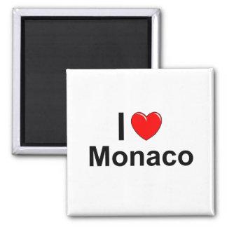 I Love Heart Monaco Magnet