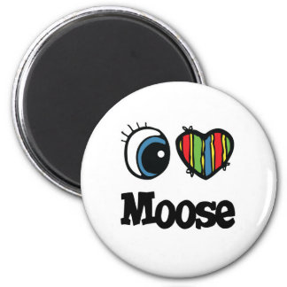 I Love (Heart) Moose Fridge Magnet