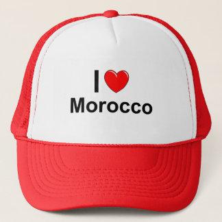 I Love Heart Morocco Trucker Hat
