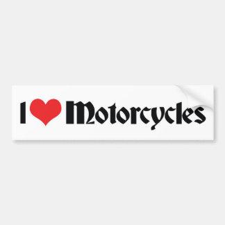 I Love Heart Motorcycles Bumper Sticker