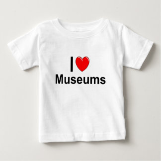 I Love Heart Museums Baby T-Shirt