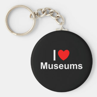 I Love Heart Museums Key Ring