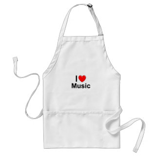 I Love Heart Music Standard Apron