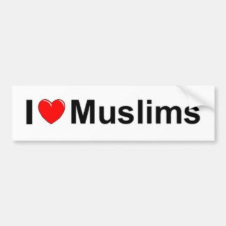 I Love (Heart) Muslims Bumper Stickers