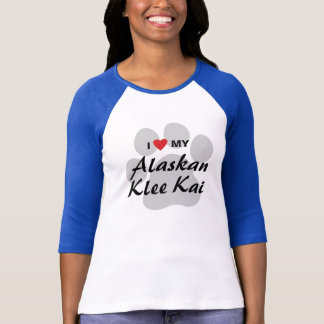 I Love (Heart) My Alaskan Klee Kai Lovers T-Shirt