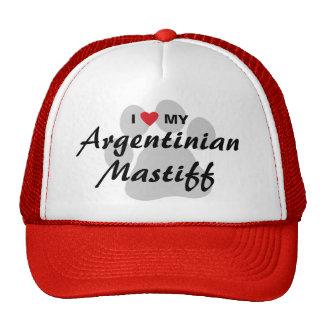 I Love (Heart) My Argentinian Mastiff Mesh Hat