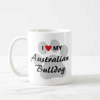 I Love (Heart) My Australian Bulldog Coffee Mug