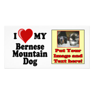 I Love Heart My Bernese Mountain Dog Photo Greeting Card