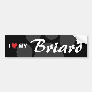 I Love (Heart) My Briard Bumper Sticker