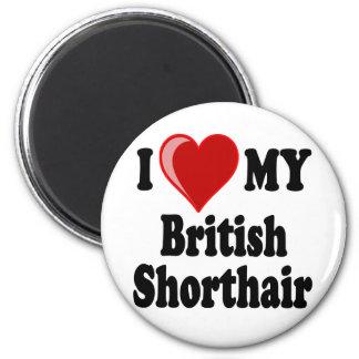 I Love (Heart) My British Shorthair Cat Magnet