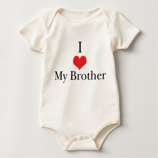 I Love (Heart) My Brother Baby Bodysuit