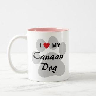 I Love (Heart) My Canaan Dog Two-Tone Coffee Mug