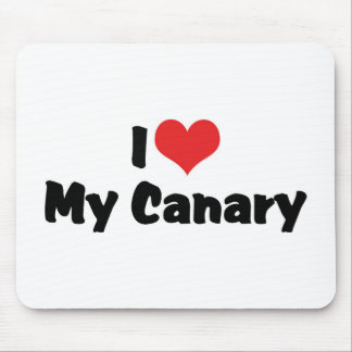 I Love Heart My Canary - Bird Lover Mouse Pad