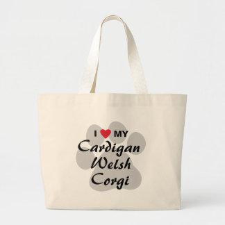 I Love (Heart) My Cardigan Welsh Corgi Jumbo Tote Bag