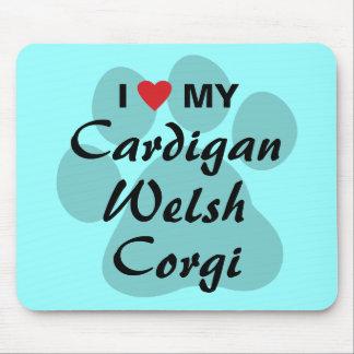 I Love Heart My Cardigan Welsh Corgi Mousepads