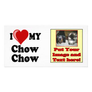 I Love Heart My Chow Chow Dog Photo Card Template