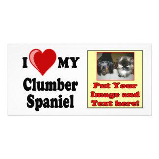 I Love Heart My Clumber Spaniel Dog Photo Cards