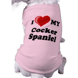 I Love (Heart) My Cocker Spaniel Dog Dog Shirt
