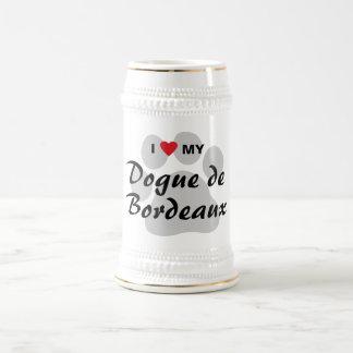 I Love (Heart) My Dogue de Bordeaux Beer Steins