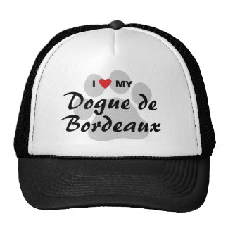 I Love (Heart) My Dogue de Bordeaux Mesh Hat