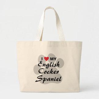 I Love (Heart) My English Cocker Spaniel Tote Bags
