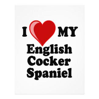 I Love (Heart) My English Cocker Spaniel Dog Full Color Flyer