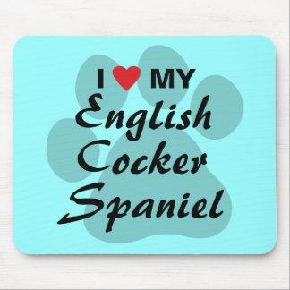 I Love (Heart) My English Cocker Spaniel Mouse Pad