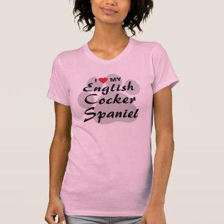 I Love (Heart) My English Cocker Spaniel Tshirt