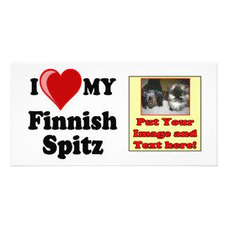I Love Heart My Finnish Spitz Dog Photo Greeting Card