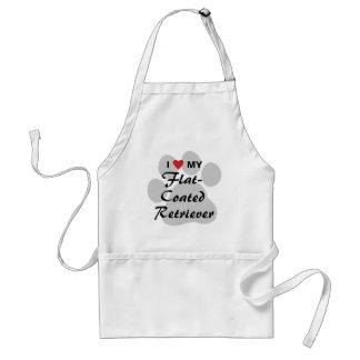 I Love (Heart) My Flat-Coated Retriever Adult Apron