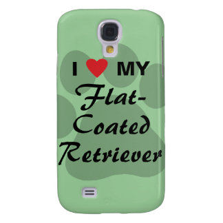 I Love (Heart) My Flat-Coated Retriever Samsung Galaxy S4 Case