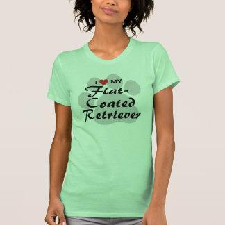 I Love (Heart) My Flat-Coated Retriever Shirt